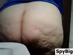 BBW Watched Going To A Washroom By A Spy Cam