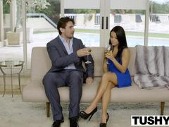 TUSHY My Girlfriend Megan Rain Gets Fucked in the Ass by the Neighbor!