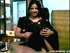 Guy Sucking Her Saggy Indian Breasts