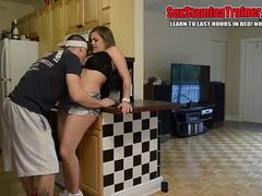 Katie Cummings getting fucked on the kitchen counter