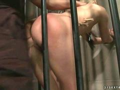 Sexy girl gets fucked in prison