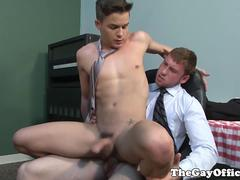 Office hunk assfucks twink intern
