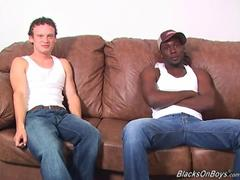 Hung black thug fucks a curly white boy