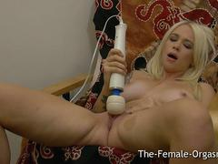 Hot Blonde with Big Pussy Lips Masturbates to Orgasm
