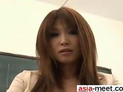 Teacher Ai Kurosawa teases her teen student in pantyhose while clit rubbing