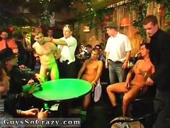 Twink play poker strip and party in a big club