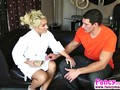 Cali has a hot time as she massages the well hung bloke