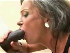 Granny found glory hole