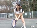 Asian schoolgirl gets fucked out on the tennis court
