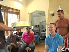 Birthday boy gets a hunky stripper for his party