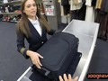 Sexy latina stewardess gets screwed hard by nasty pawn dude