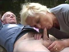 Sexy babe joins old couple