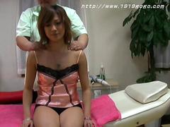 Asian slut getting groped up by the masseuse