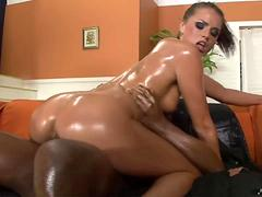 Tori Black Gets Oiled Up And Fucked