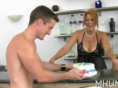 MILF cougar climbs a young cock and gets fucked like crazy