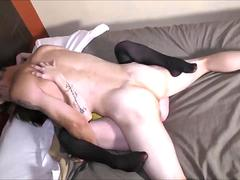 Young couple on a sexual intercourse