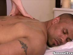 Tranny assfucked by BBC after cocksucking