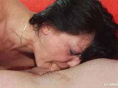 Chick gives the best blowjob of her career