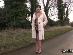 Unfaithful british milf lady sonia presents her enormous jugs