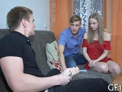 he pushes hard cock teen film 1