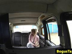 British taxi amateur tonguing cabbies arse
