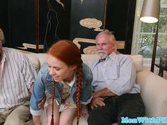 skinny bitch gets her ass filled with cum
