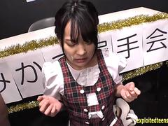 Jav Idol Abe Mikako Gets Gang Bukkake In Dolls Outfit At Talent Contest Interview