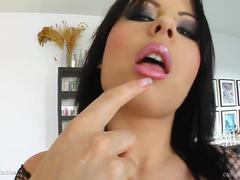 Messy facial end for Veronika on Cum For Cover from a group of guys