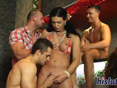 Orgy with bisexual dudes