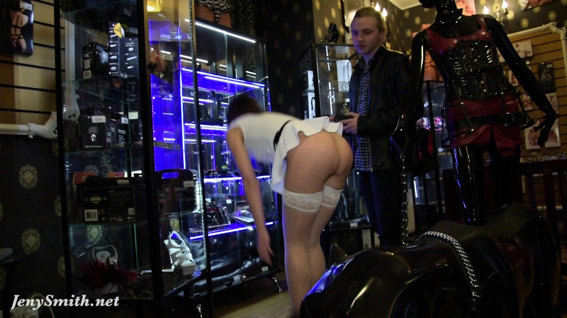 Jeny smith naked sales girl meet customers in a sex shop - 1 part 9