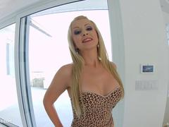 Newcomer babe Nina Trevino gets a load of anal creampie at All Internal