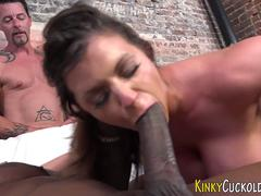 Black dong for this slutty cuckold porn babe