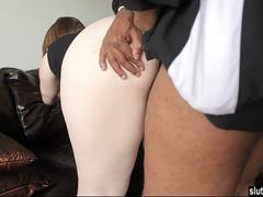 Big Ass Pale Bbw Takes A Black Cock