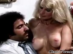 Vintage monster cock threesome