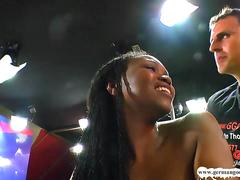 Ebony Beauty Fortula worships cocks - German Goo Girls
