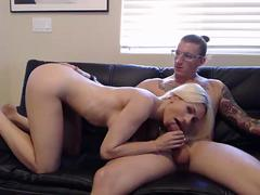 Brother fucked sister on leather sofa - Girlhotcam.com to see more