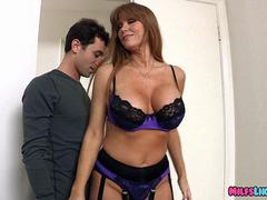 Mature Lingerie Woman wants a nice Young cock