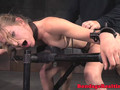 Bound bdsm submissive spitroasted by maledoms