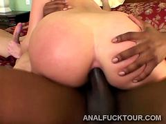 Black and white up a big booty blondies tight anus