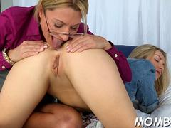 Mom teaching her daughter all kinky stuff