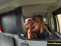 Busty british cabbie cocksucking backseat guy