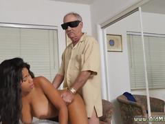 Teeny black ebony and mature tranny old first time Glenn finishes the job