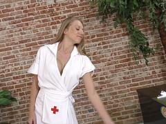 Busty nurse Shawna Lenee does Handjob