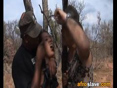 African Slave Gets Forced To Give Head Outdoors