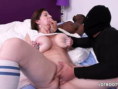 Fat ass and huge tits mature Sara Jay gets fucked by thief