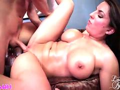 Mallory Sierra uses her big boobs to make him crazy
