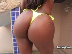 Ebony big booty sheshaft enjoy solo