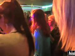 Horny girls at a party go wild