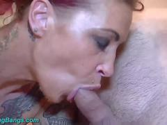 extreme tattoed Milf Nathalie Hardcore banged