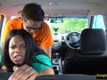 BBW pounded by horny driving instructor in the backseat